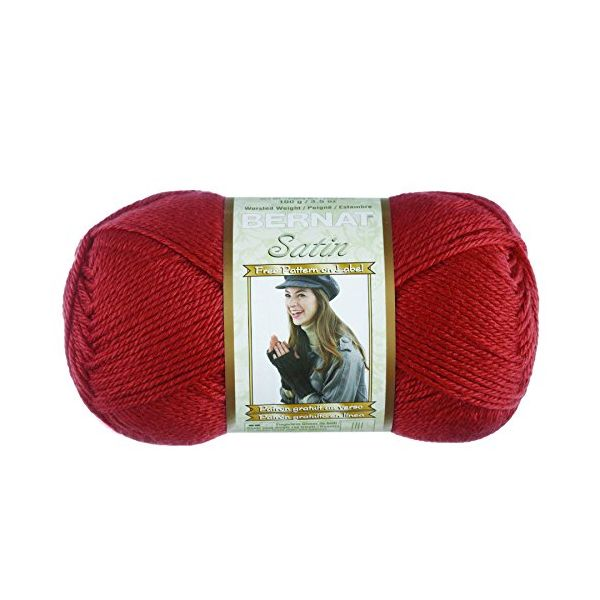 Bernat Satin Yarn - Rouge