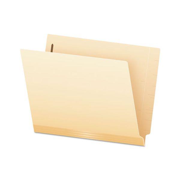 Pendaflex Laminated Spine End Tab Folder with 1 Fastener, 11 pt Manila, Letter, 50/Box