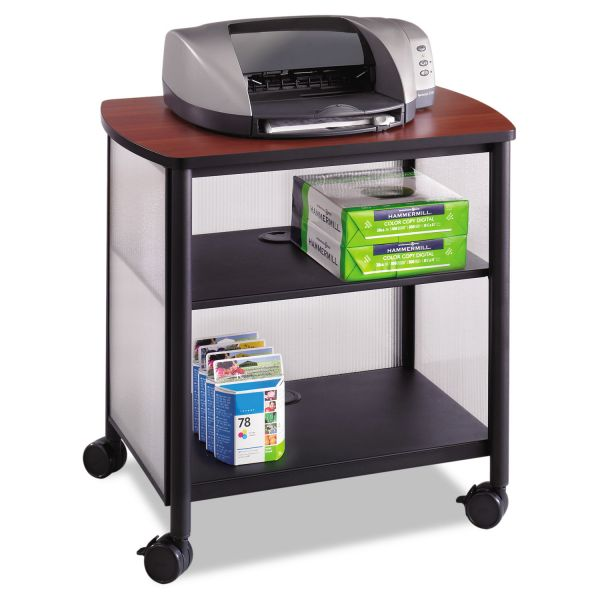 Safco Impromptu Machine Stand, One-Shelf, 26-1/4w x 21d x 26-1/2h, Black/Cherry