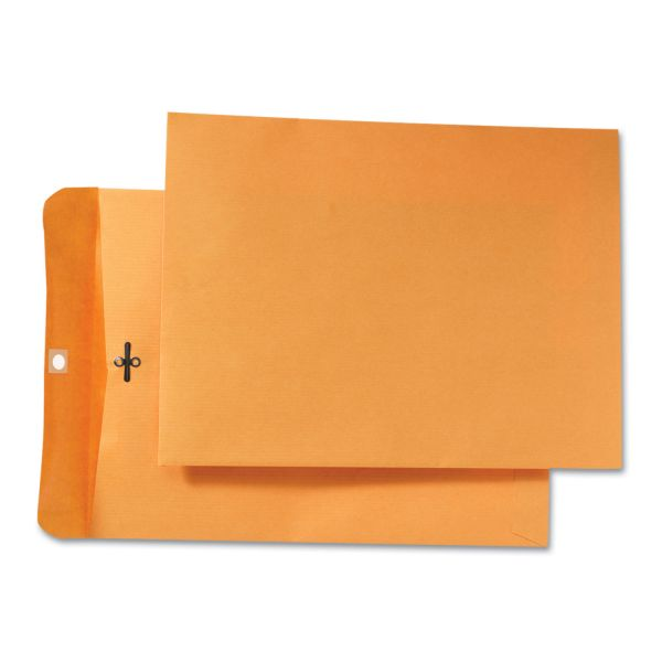 Quality Park Park Ridge Kraft Clasp Envelope, 9 x 12, Brown Kraft, 100/Box