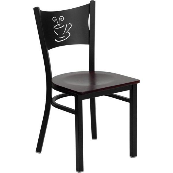 Flash Furniture Coffee Back Metal Restaurant Chair