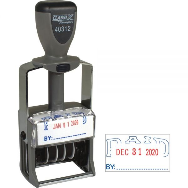 Xstamper Heavy-duty PAID Self-Inking Dater