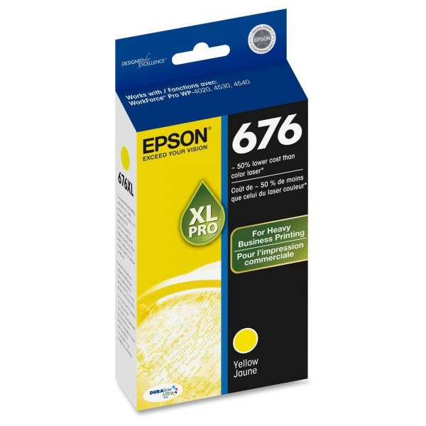 Epson 676 XL Yellow High Yield Ink Cartridge (T676XL420)