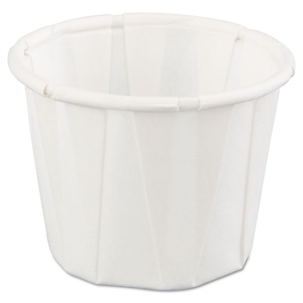 Genpak Pleated 0.75 oz Paper Portion Cups
