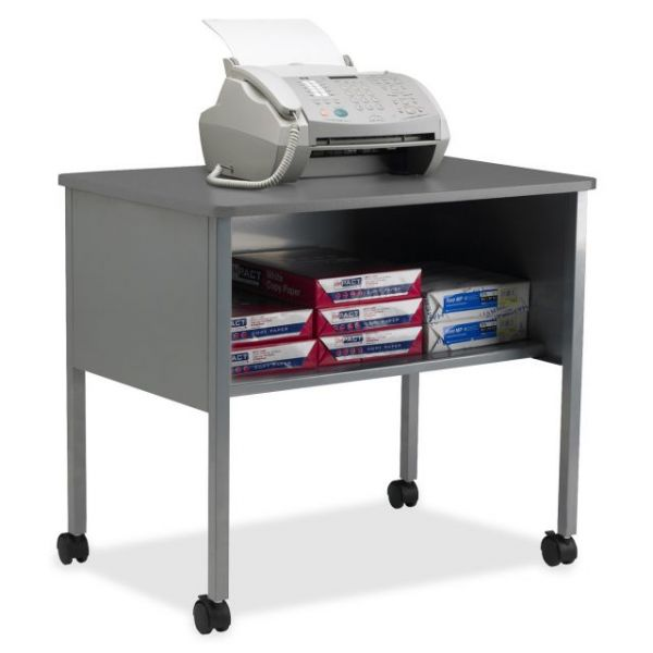 Tiffany Industries Mobile Machine Stand with Open Storage Shelf, 30 x 21 x 26-1/2, Gray