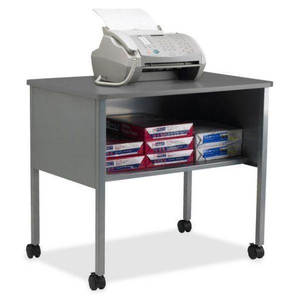 Tiffany Industries Mobile Machine Stand with Open Storage Shelf, 30 x 21 x 26-1/2, Gray
