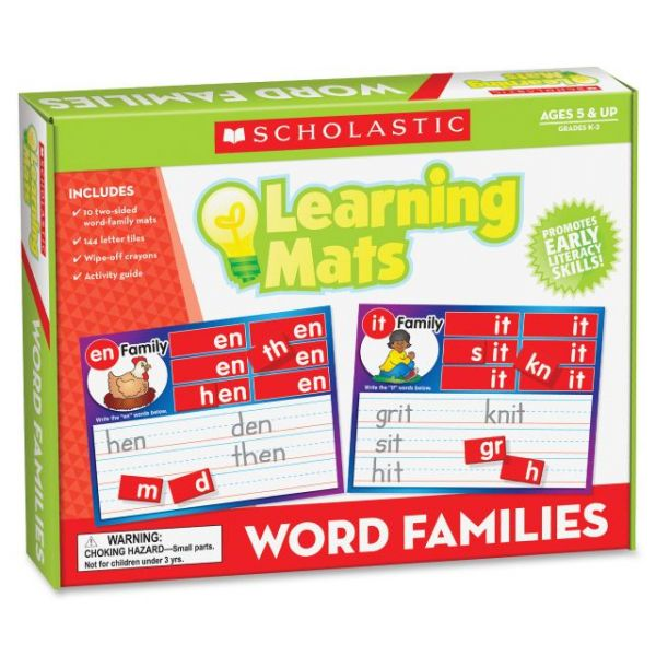 Scholastic Res. Gr K-2 Word Family Learning Mats