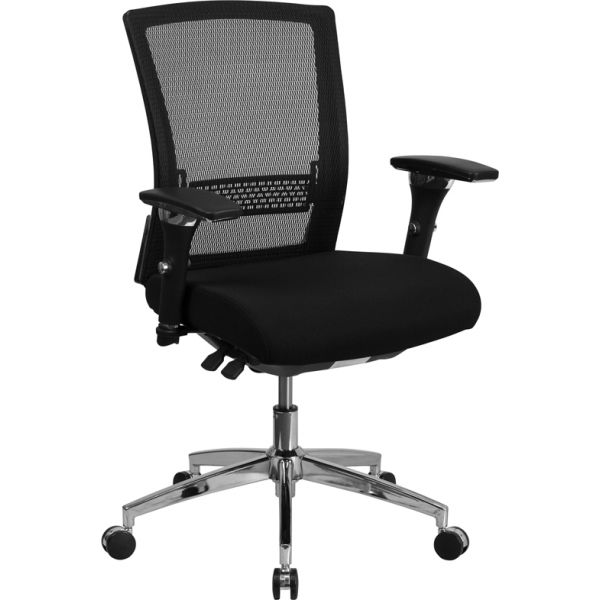 Flash Furniture HERCULES Series 24/7 Multi-Shift Mesh Multi-Functional Executive Chair with Padded Seat & Seat Slider