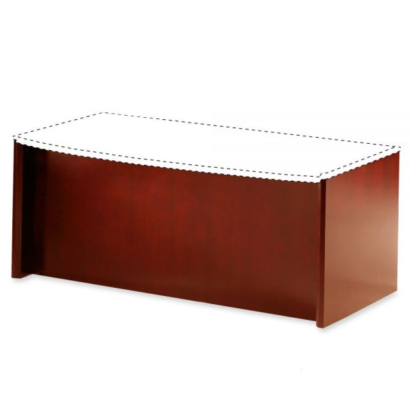 Tiffany Industries Corsica Series Bow Front Desk Base, 31-1/2w x 2d x 28-3/4h, Sierra Cherry