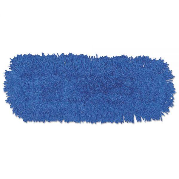 Rubbermaid Commercial Twisted Loop Blend Dust Mop, Synthetic, 24 x 5, Blue, Dozen