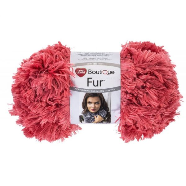 Red Heart Boutique Fur Yarn - Peachie