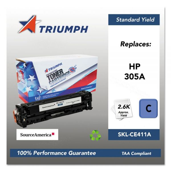 Triumph Remanufactured HP 305A (CE411A) Toner Cartridge
