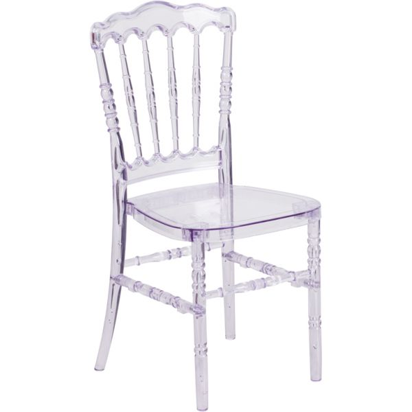 Flash Furniture Flash Elegance Crystal Ice Stacking Napoleon Chair