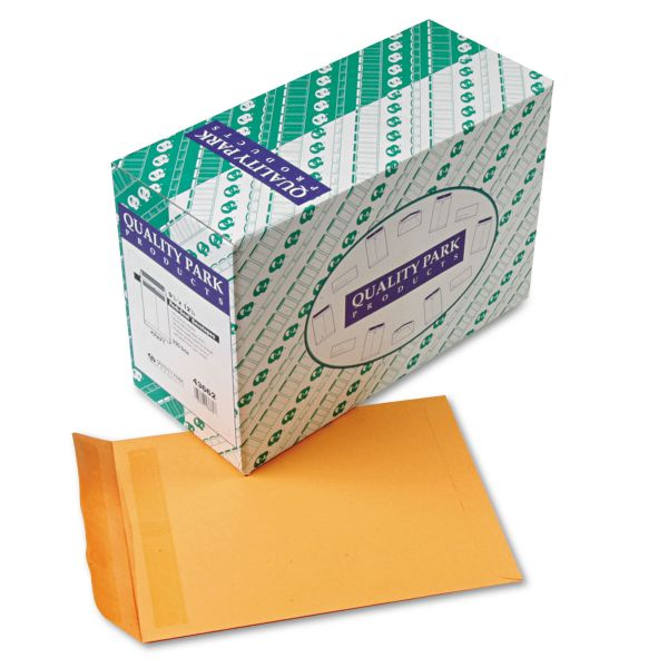 Quality Park Redi Seal Catalog Envelope, 9 1/2 x 12 1/2, Brown Kraft, 250/Box
