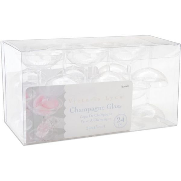 "Champagne Glasses 2"" 24/Pkg"