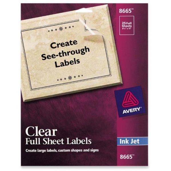Avery Full Sheet Labels