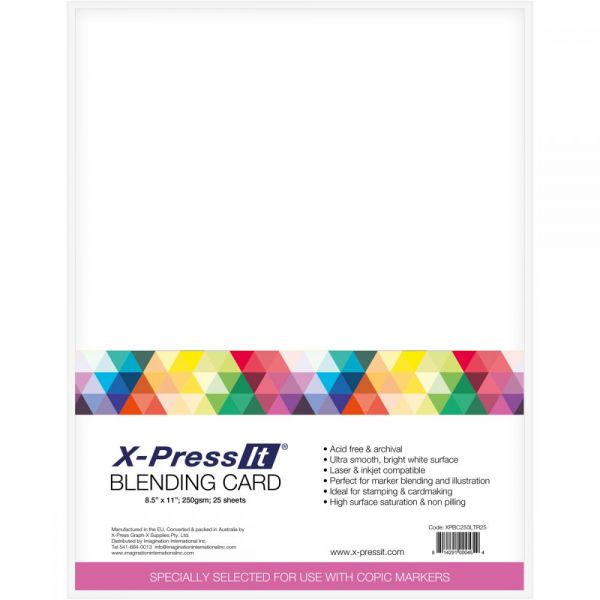 "X-Press Blending Card 8.5""X11"" 25/Pkg"