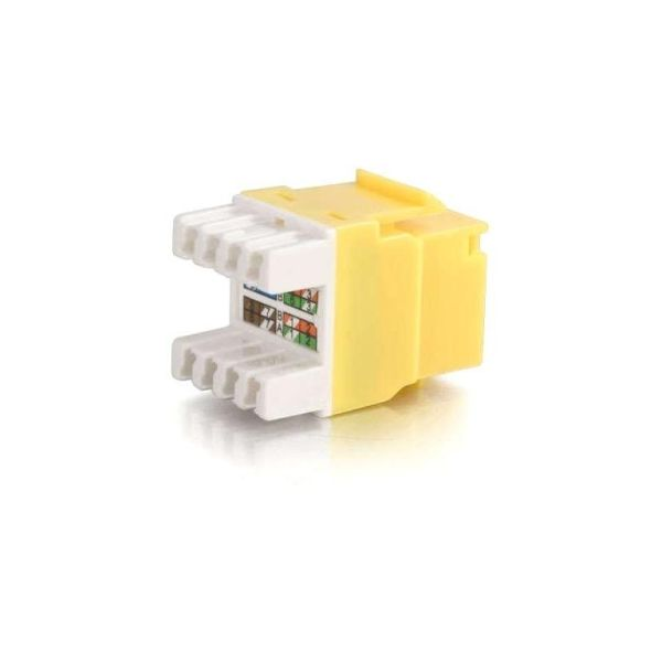 C2G Cat5E RJ45 UTP Keystone Jack - Yellow