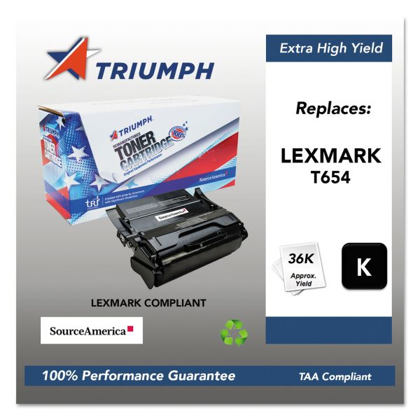 SKILCRAFT Remanufactured Lexmark T654X41G Extra High Yield Toner Cartridge