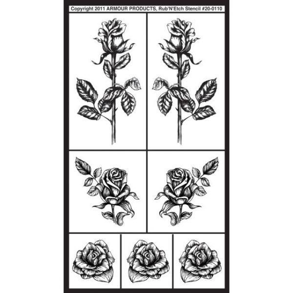 """Rub 'N' Etch Designer Stencil 5""""X8"""""""