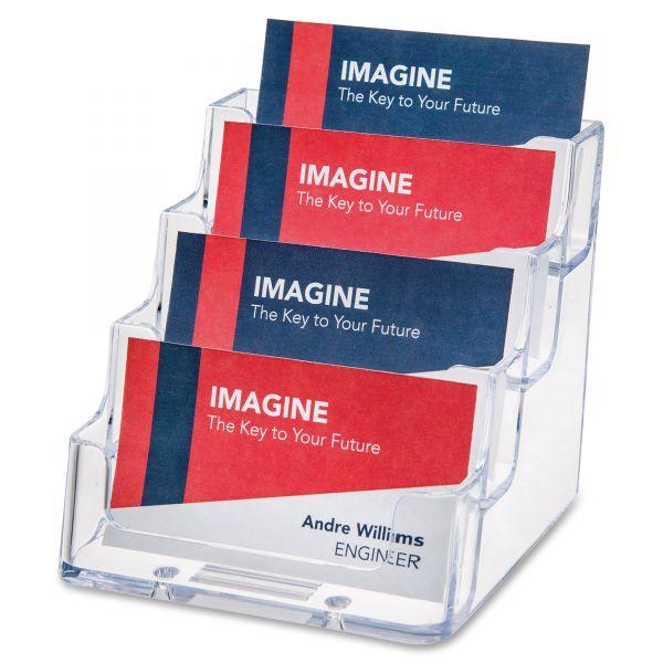 Deflect-o 4-Pocket Desktop Business Card Holder