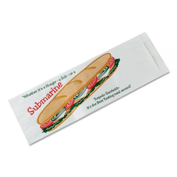 Bagcraft Papercon Submarine Sandwich Bags