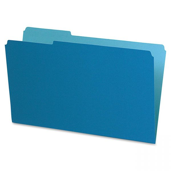 Pendaflex Interior File Folders, 1/3 Cut Top Tab, Legal, Blue, 100/Box
