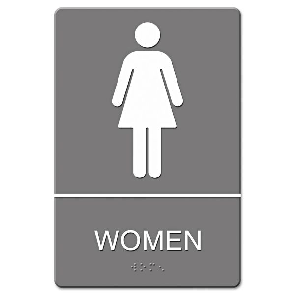 "Headline Signs ""Women"" Restroom Sign"