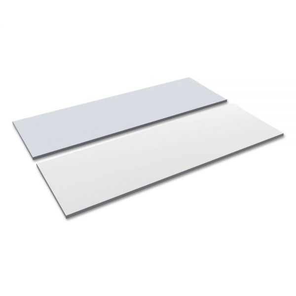 Alera Reversible Laminate Table Top, Rectangular, 71 1/2w x 23 5/8d, White/Gray
