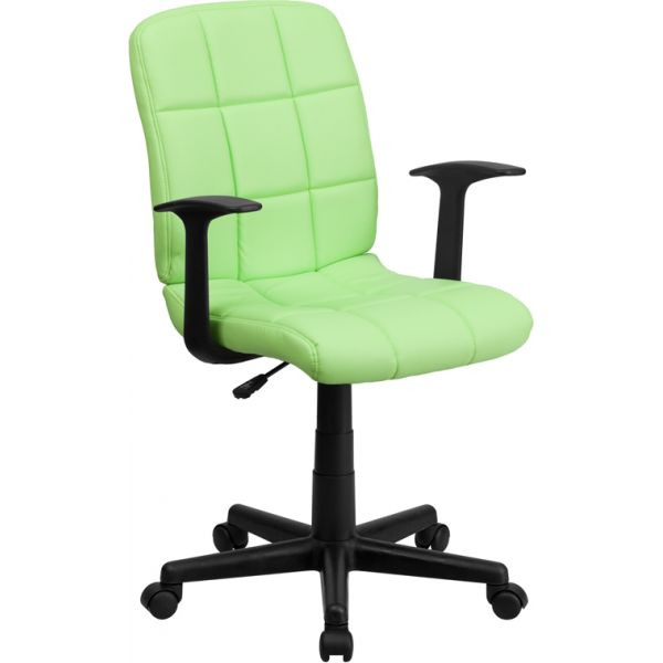 Flash Furniture Mid-Back Quilted Vinyl Task Chair with Nylon Arms