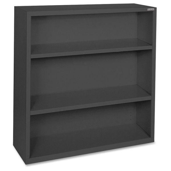 Lorell Fortress Series 3-Shelf Steel Bookcase