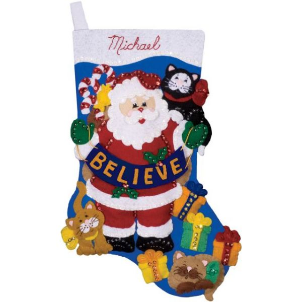 Believe Stocking Felt Applique Kit