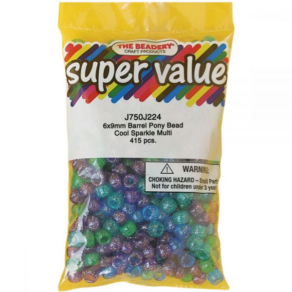 Pony Beads 6mmX9mm 415/Pkg