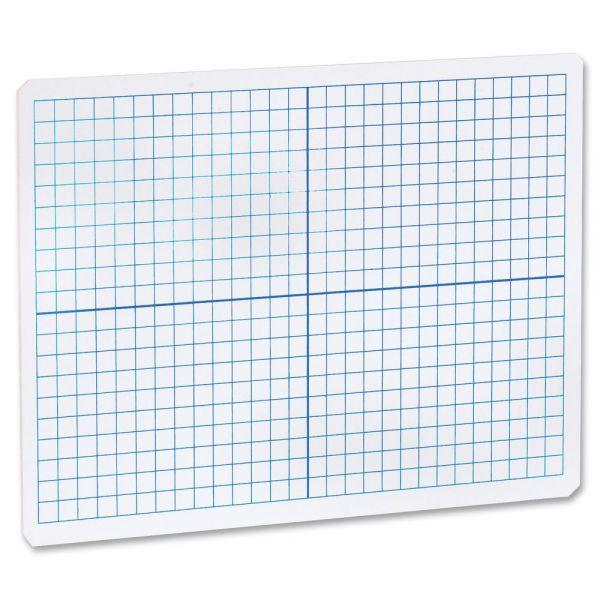 Flipside Grid/Plain Double-Sided Dry Erase Lap Board