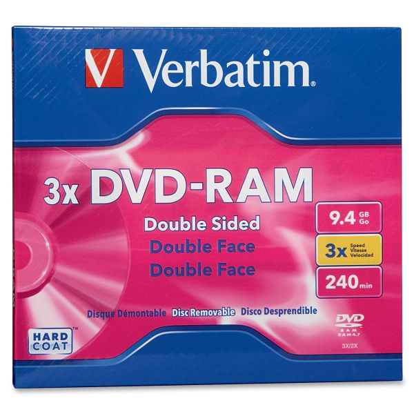 Verbatim Rewritable DVD Media With Jewel Case