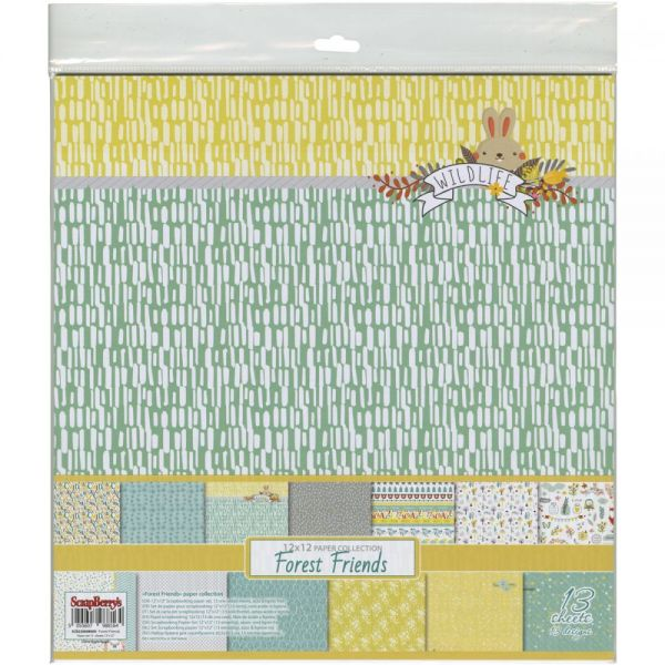 "ScrapBerry's Forest Friends Paper Pack 12""X12"" 13/Pkg"