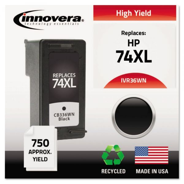 Innovera Remanufactured HP 74XL High Yield Ink Cartridge