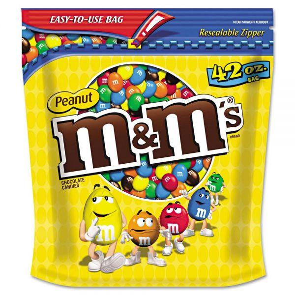 M & M's Milk Chocolate With Peanuts Bite Size Candy (2.625 lbs)