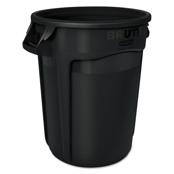 Rubbermaid Commercial Brute Round Containers, 32 gallon, Black