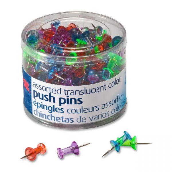 OIC Translucent Push Pins
