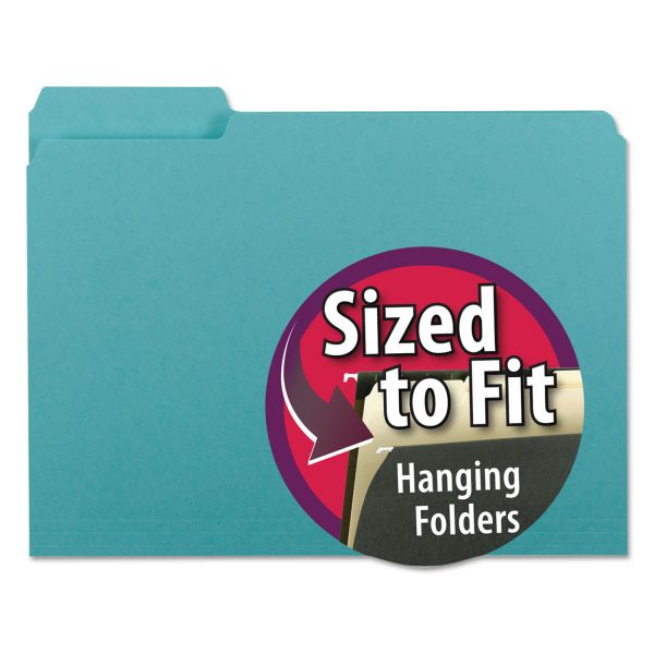 Smead Aqua Colored File Folders
