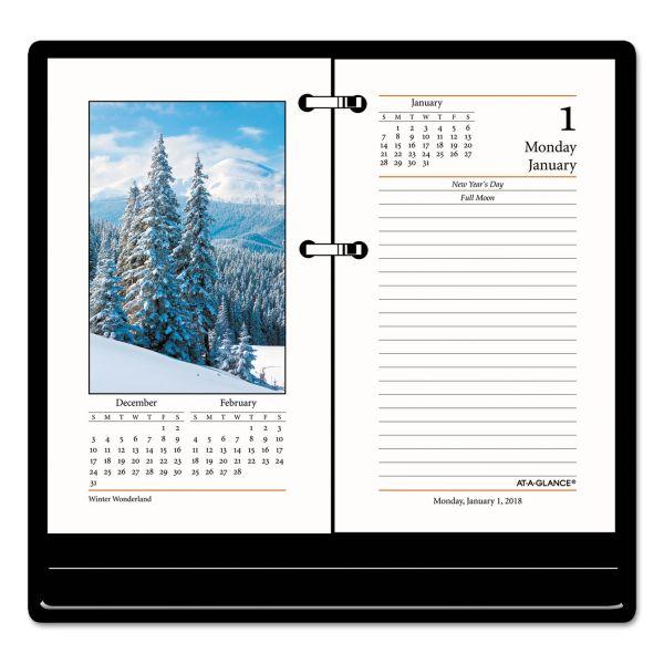 AT-A-GLANCE Photographic Desk Calendar Refill, 3 1/2 x 6, 2018