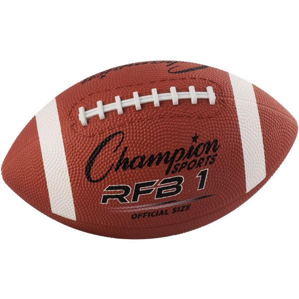 Champion Sports Official Size Rubber Football, Official NFL, No. 9, Brown