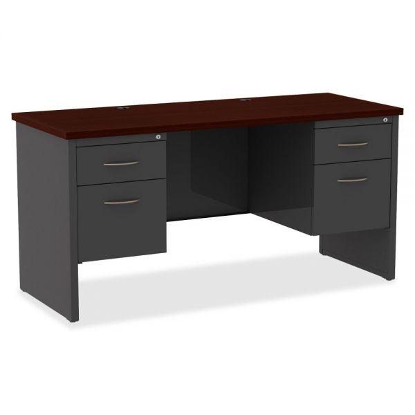 Lorell Commercial Double Pedestal Computer Desk