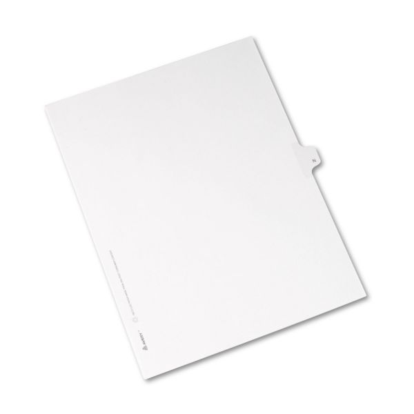 Avery Allstate-Style Legal Exhibit Side Tab Divider, Title: N, Letter, White, 25/Pack