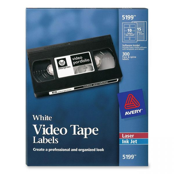 Avery Video Tape Labels