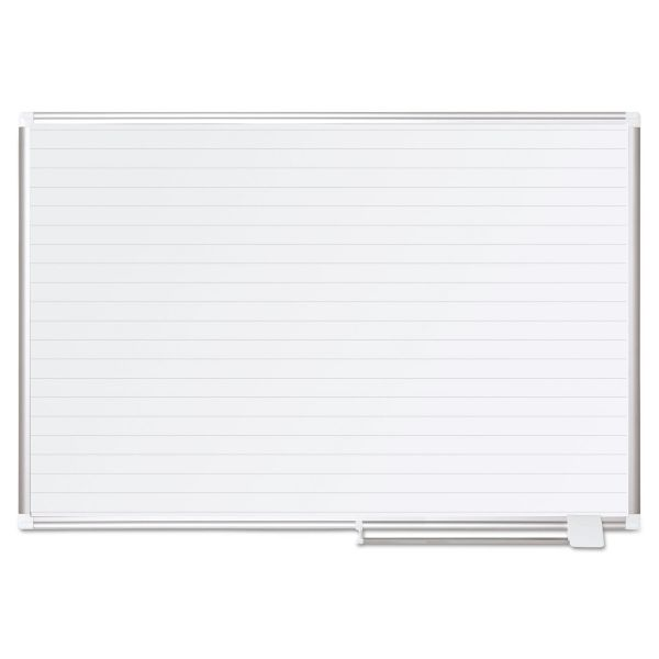 MasterVision MasterVision Ruled Planning Board, 36x48, Silver Frame