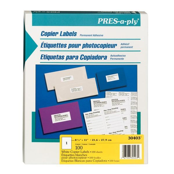 Avery Pres-A-Ply Copier Shipping Labels