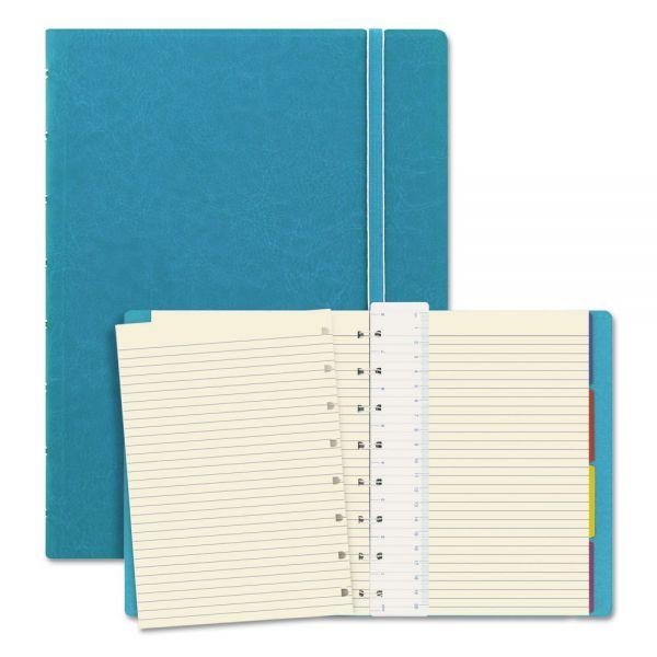 Filofax Notebook, College Rule, Aqua Cover, 8 1/4 x 5 13/16, 112 Sheets/Pad