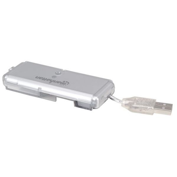 Manhattan 4-Port Hi-Speed USB Pocket Hub, Bus Power